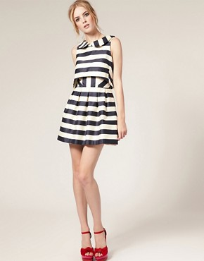 Image 4 ofASOS Peter Pan Dress in Stripe Print