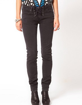 Image 1 ofSass &amp; Bide Bang Bang Lace Up Front Jeans