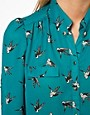 Image 3 ofOasis Shirt with Bird Print