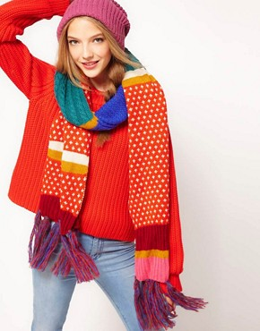 Image 1 ofASOS Mix Pattern Block Long Scarf