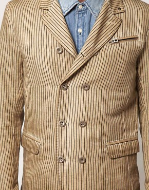 Image 3 ofDiesel Jurua Stripe Linen Blazer