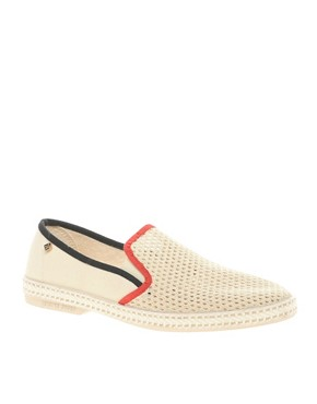 Image 1 ofRivieras Hot Roads Tricolour Slip-On Shoes