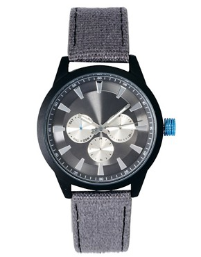 Image 1 ofASOS Colour Detail Canvas Watch