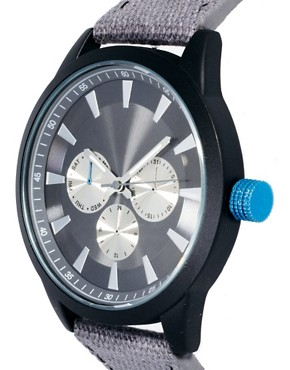 Image 3 ofASOS Colour Detail Canvas Watch