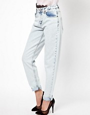 ASOS Mom Jeans in Light Vintage Wash