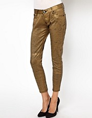 One Teaspoon Iggy Jean in Coated Gold