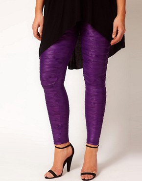 Image 4 ofASOS CURVE Exclusive Pleated Leggings