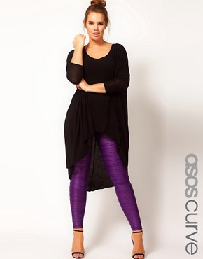 Image 1 ofASOS CURVE Exclusive Pleated Leggings