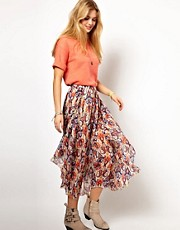 Pepe Jeans Wrapped Printed Skirt