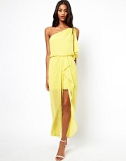 ASOS One Shoulder Dress With Split Front
