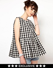 The WhitePepper Smock Top in Gingham Check