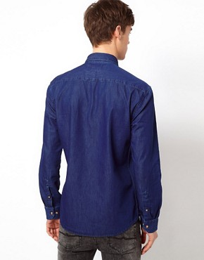 Image 2 ofSelected Shirt With Contrast Pocket
