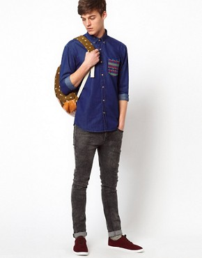 Image 4 ofSelected Shirt With Contrast Pocket