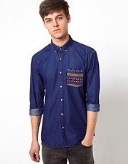 Selected Shirt With Contrast Pocket
