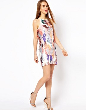Image 4 ofFrench Connection Sequin Mini Dress