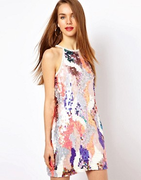 Image 1 ofFrench Connection Sequin Mini Dress