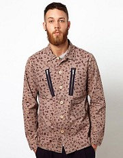 Wood Wood Nikolai Overshirt with Animal Print