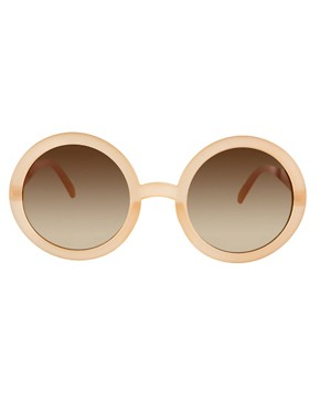 Image 2 ofASOS Nude Round Sunglasses