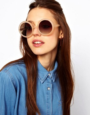 Image 3 ofASOS Nude Round Sunglasses
