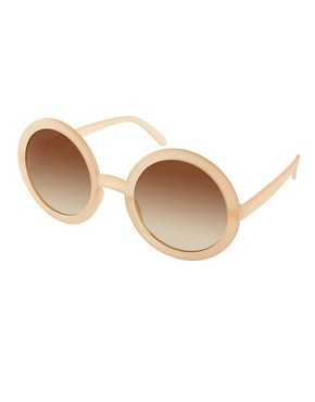 Image 1 ofASOS Nude Round Sunglasses