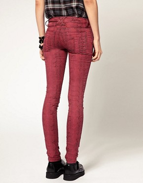 Image 2 ofTripp NYC Snake Print Skinny Trousers