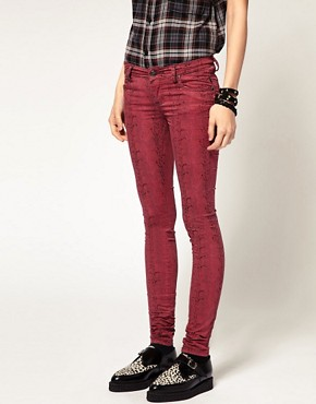 Image 4 ofTripp NYC Snake Print Skinny Trousers