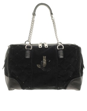 Image 1 ofJuicy Couture Quilted Velour Steffy Bag