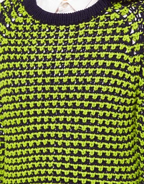 Image 3 ofShae Novelty Stitch Top with Contrast Trim