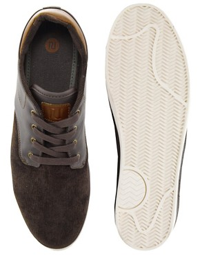 Image 2 ofRiver Island Cord Mid Tops