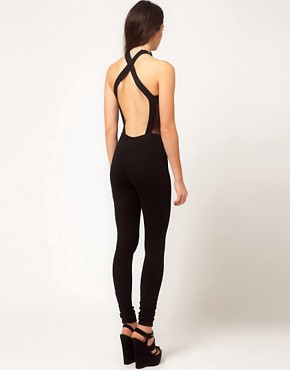Image 2 ofASOS Unitard with Mesh Front and Panels