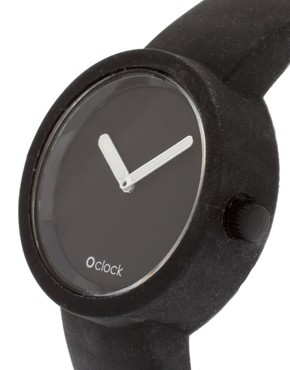 Image 3 ofO&#39;Clock Silicone Black Watch
