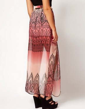 Image 2 ofRiver Island Printed Chiffon Maxi Skirt