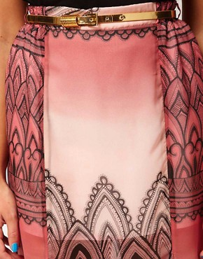 Image 3 ofRiver Island Printed Chiffon Maxi Skirt