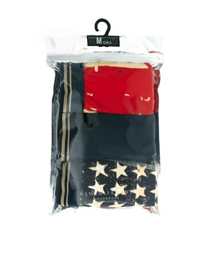 Image 4 ofRiver Island New Stars And Stripes 3 Pack Trunks