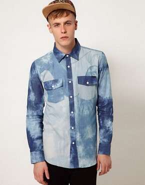 Image 1 ofAfends Shirt Indigo Trip Acid Western