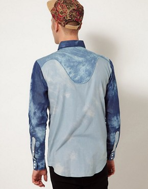 Image 2 ofAfends Shirt Indigo Trip Acid Western
