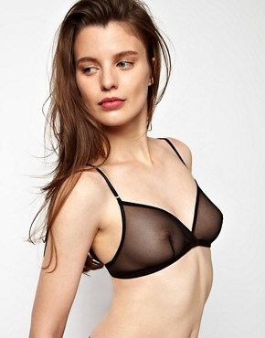Image 1 ofKallisti by Marios Schwab for ASOS Inc Mesh &quot;No Bra Bra&quot; Soft Triangle Bra