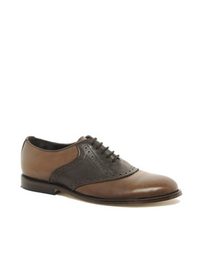 Image 1 ofASOS Saddle Shoes With Leather Sole