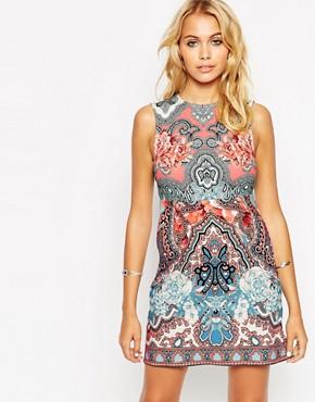 ASOS Placement Folk Sleeveless Tunic Dress