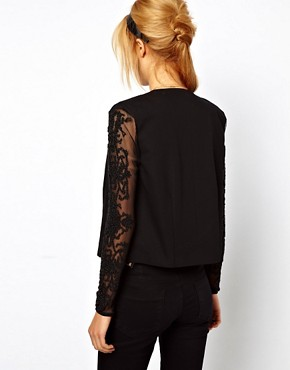 Image 2 ofASOS Blazer With Embellished Sleeves