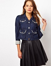 Juicy Couture Denim Crop Jacket