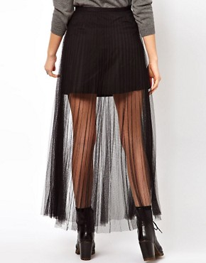 Image 2 ofJovonnista Pleated Mesh Maxi Skirt