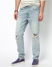 Levis Vintage Jeans 1960 605 Slim With Rips