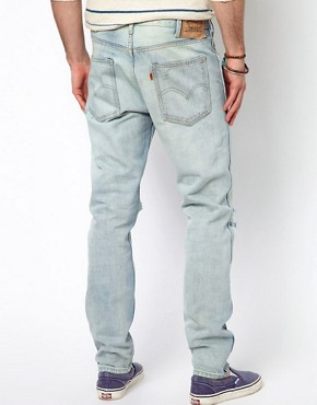Image 2 ofLevis Vintage Jeans 1960 605 Slim With Rips