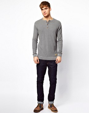 Image 4 ofJack &amp; Jones Henley Jumper