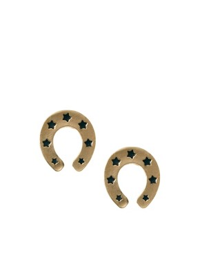 Image 1 ofASOS Horseshoe Stud Earrings