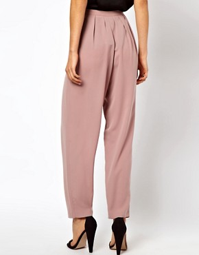Image 2 ofASOS Lux High Waisted Peg Trousers