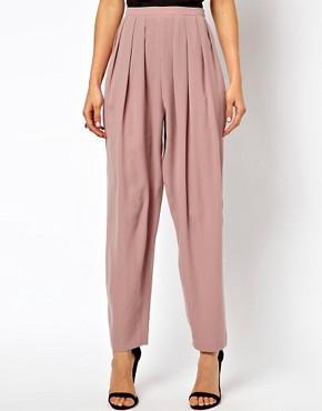 Image 4 ofASOS Lux High Waisted Peg Trousers