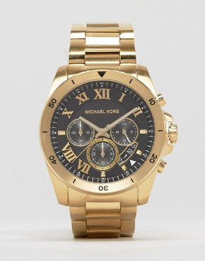 Michael Kors Brecken Chronograph Gold Watch In Stainless Steel MK8481
