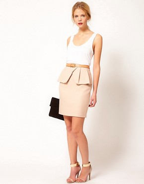 Image 1 ofOasis Asymmetric Pencil Skirt
